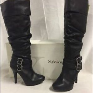 Style & Co EXTREME Knee-High Boots, Black 10W